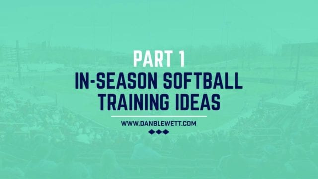 in season training for softball players