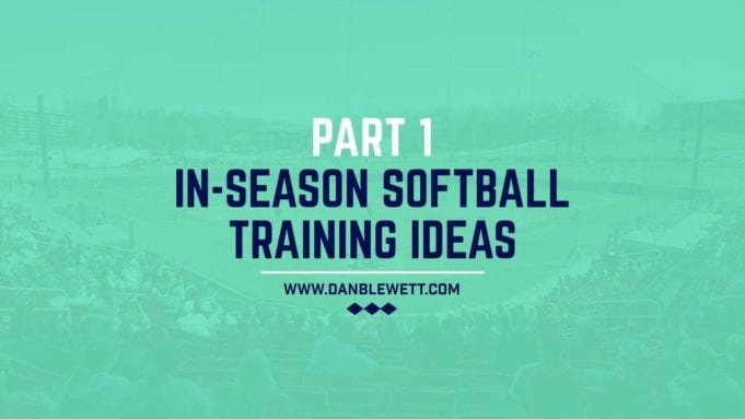 in season training for softball players