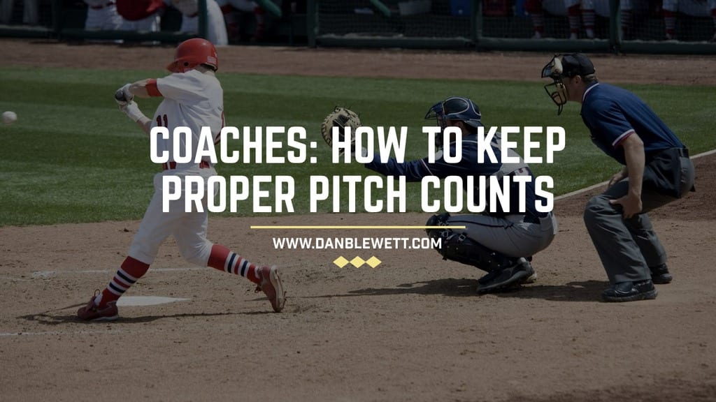 how to manage pitch counts in baseball