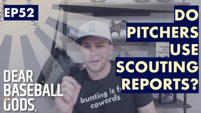 do pitchers use scouting reports