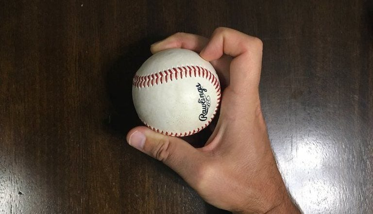fingernail curve ball grip baseball 1