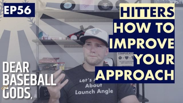 Hitters approach in baseball