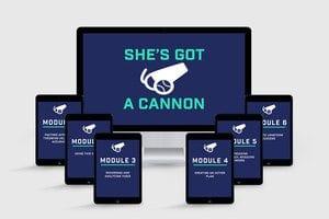 She's got a cannon