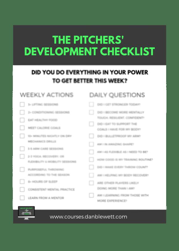 Pitcher Development Checklist Blurred