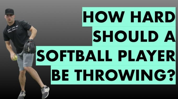 how hard should a softball player be throwing