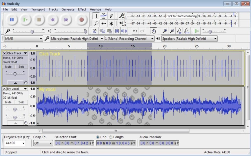 edit podcast with audacity