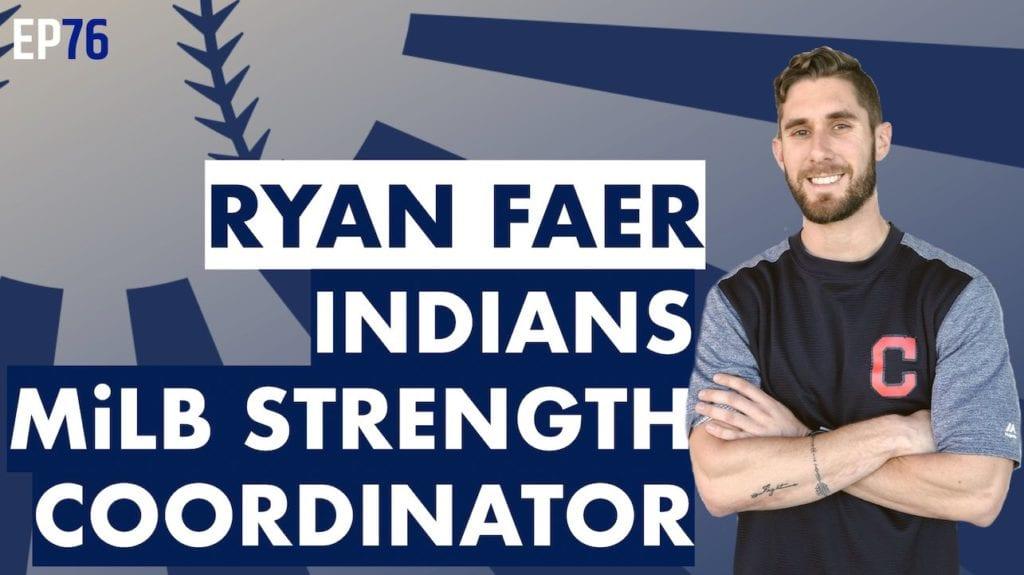 Ryan Faer Indians Baseball Strength Coach MLB
