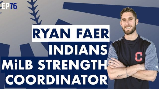 Ryan Faer Indians Baseball Strength Coach MLB