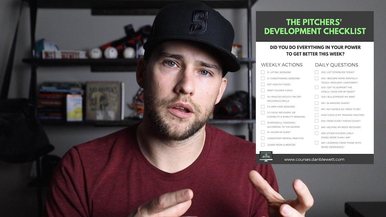 pitchers development checklist for baseball