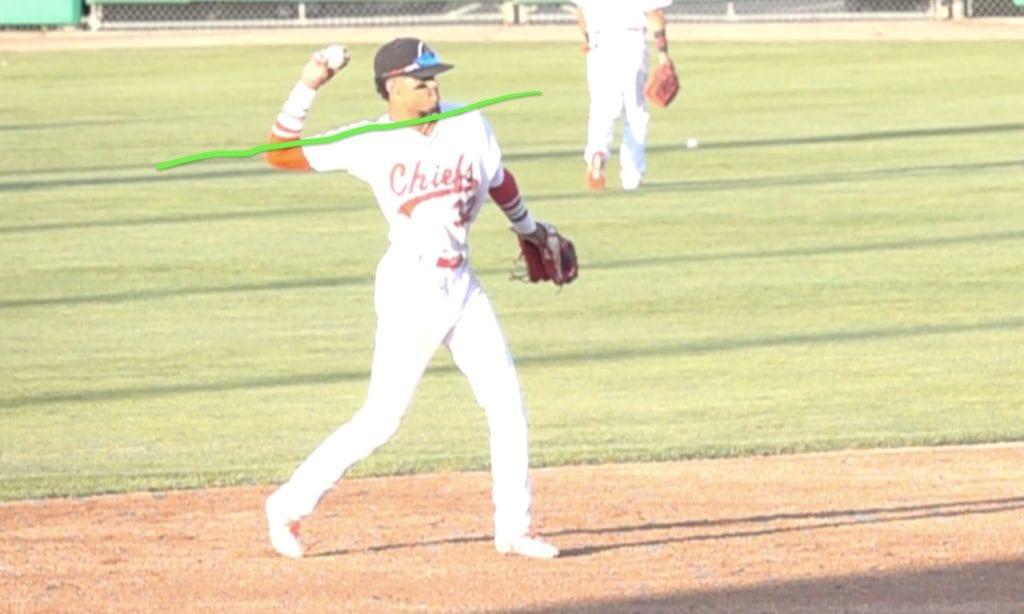 baseball infield throwing mechanics