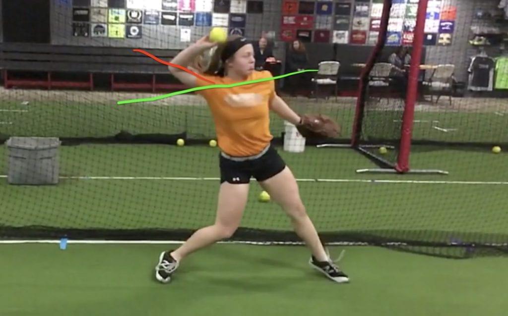 softball throwing mechanics flaw