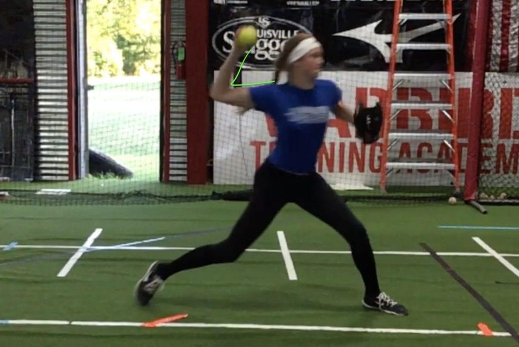 softball elbow angle