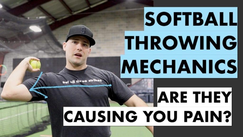 softball throwing pain